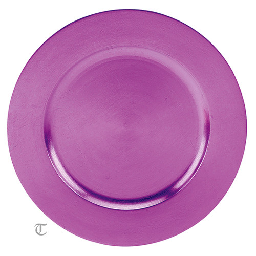 Purple Round Charger Plate, Case of 24