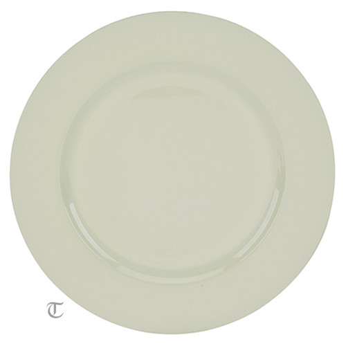 "13"" White Plain Charger Plate, Sample"