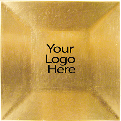 Vinyl Adhesive Gold Square Charger, Case of 12