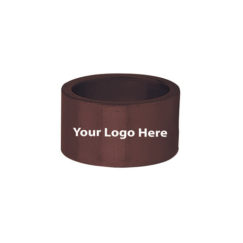 Screen Printed Brown Napkin Rings, Pkg/24