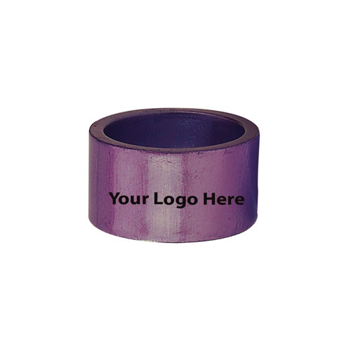 Laser Engraved Purple Napkin Rings, Pkg/24
