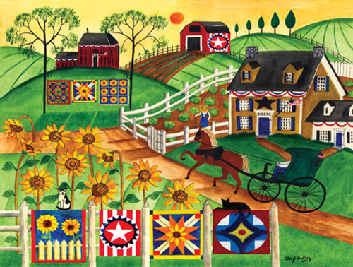 Country Sunflower Quilt Farm 300 masterpieces puzzle SOLD OUT ... : the quilt farm - Adamdwight.com