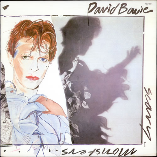 DAVID BOWIE Scary Monsters - EU Import  LP on BLUE MARBLED VINYL
