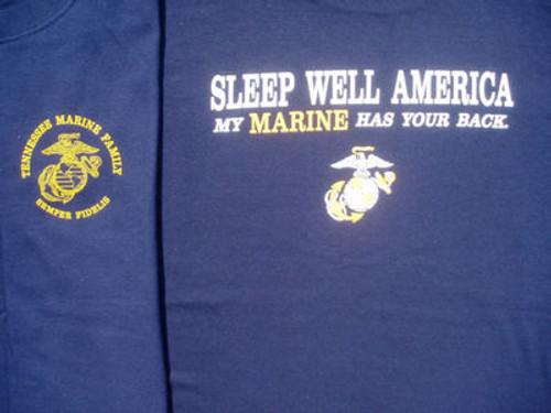 Marine Corps Tennessee Marine Family USMC short sleeve and long sleeve shirts