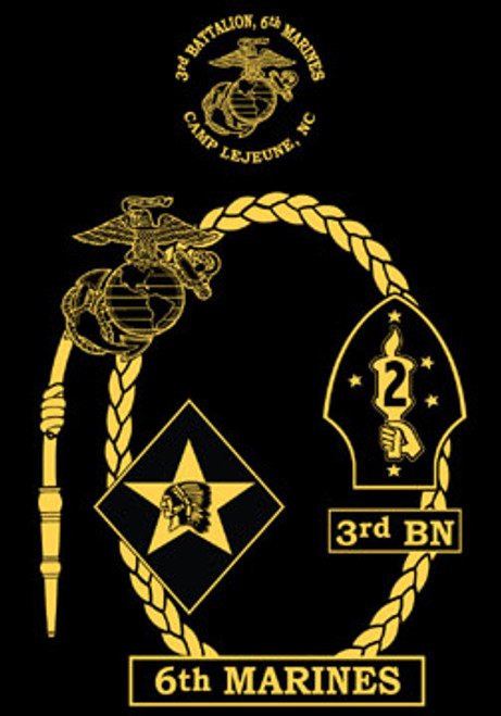3rd Battalion, 6th Marines T shirt