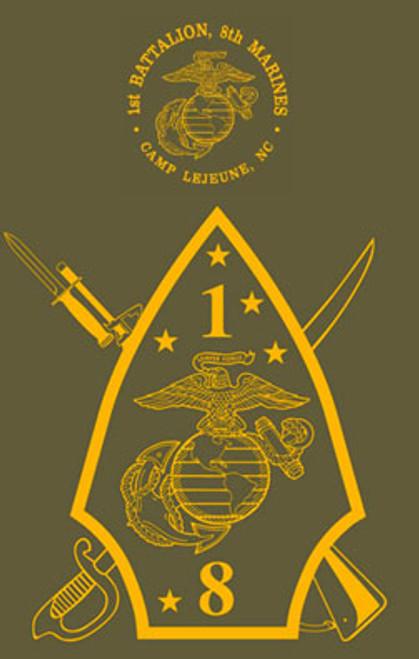1st Battalion, 8th Marines Crewneck Sweatshirt