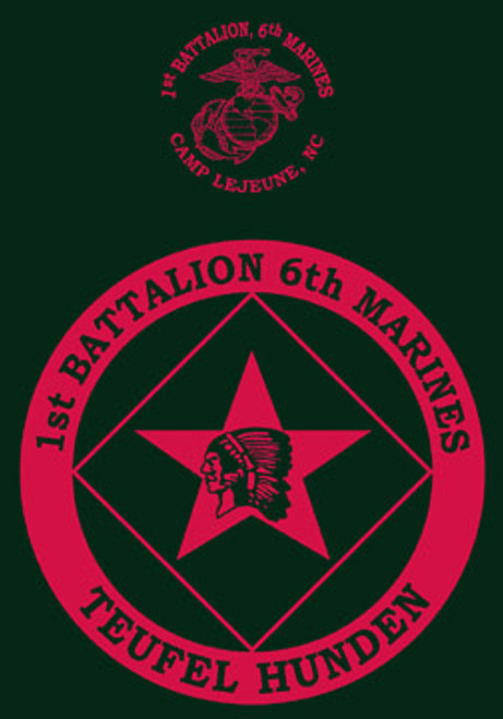 1st Battalion, 6th Marines T-shirt