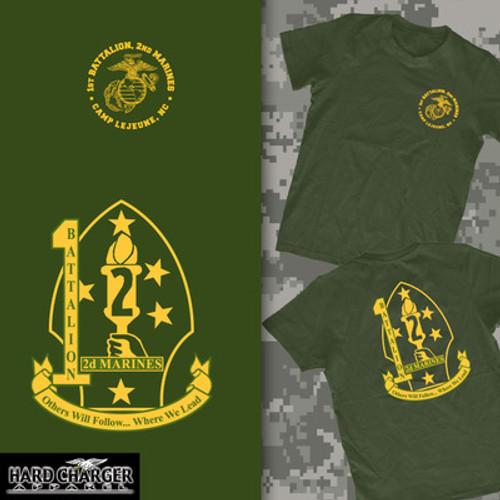 1st Battalion, 2nd Marines  Long Sleeve t-shirt