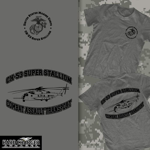 CH 53 Super Stallion Helicopter Long Sleeve T-shirt