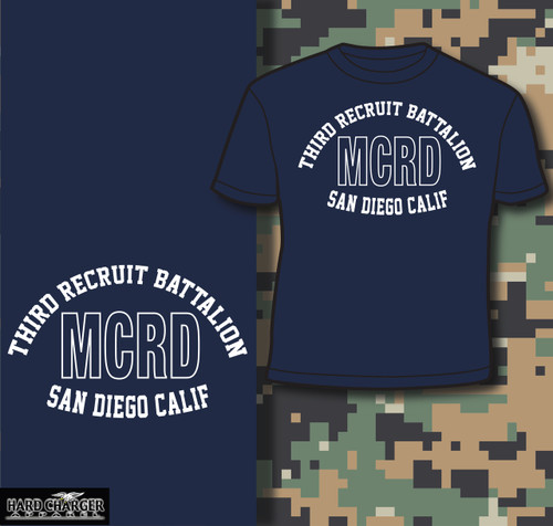 MCRD San Diego 3rd Recruit Battalion T-shirt
