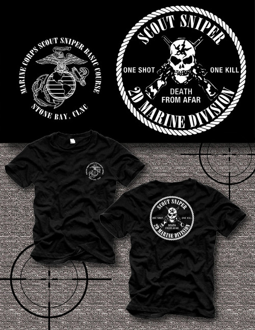 Scout Sniper School Camp Lejeune T- shirt