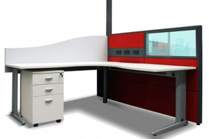 Steel Undercarriage Fixed Height Workstation from