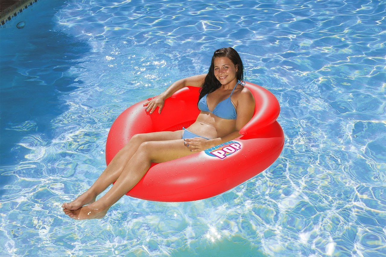 chair water inflatable stripe sleeping hammoc using the poolmaster summer lounger pool hammock color swimming accessories on girl lounge