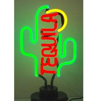 Neon Sculpture - Tequila Cactus