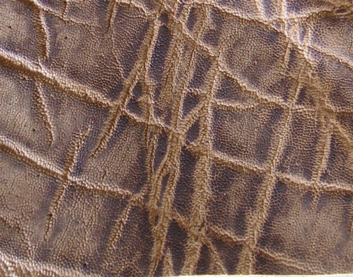 Genuine Elephant Skin - Matte Finish in Vintage Peat