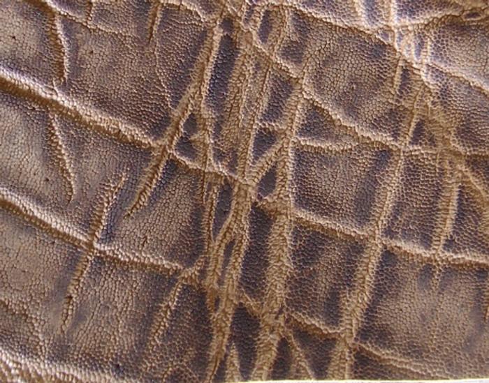 Genuine Elephant Skin - Matte Finish in Vintage Peat