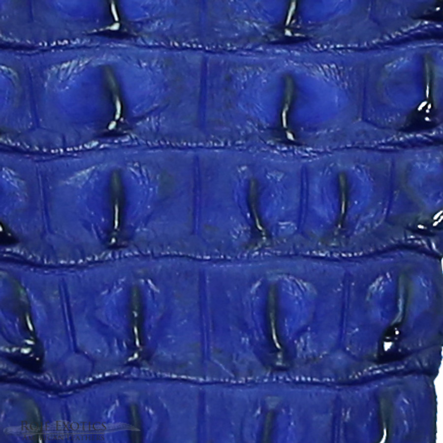 Nile Crocodile Backstrap - Electric Blue