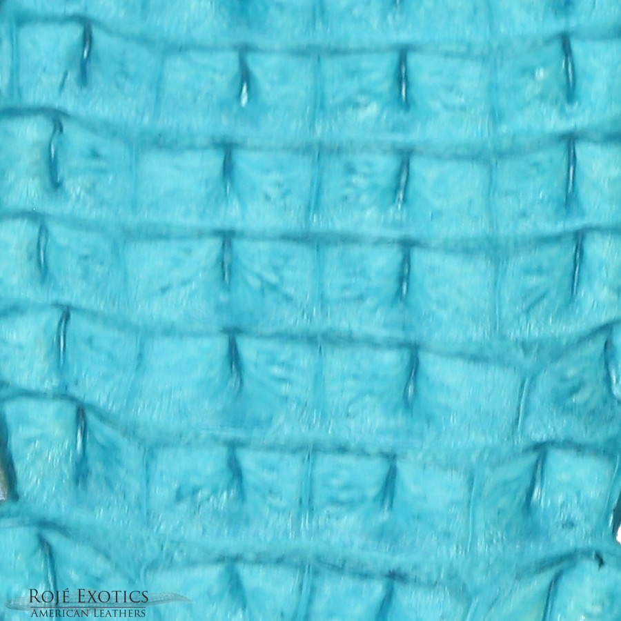 Nile Crocodile Backstrap - Crystal Blue