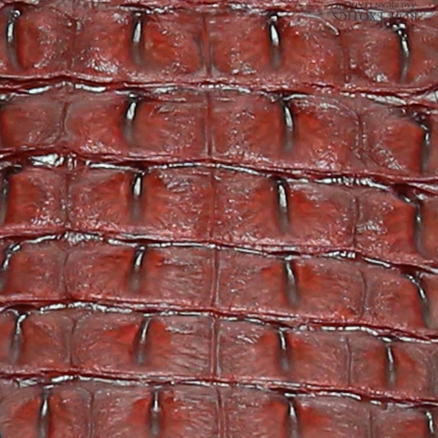 Nile Crocodile Backstrap - Red