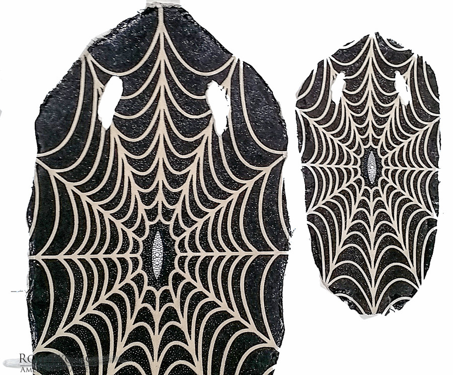 Stingray Skin - Black with White Spider Web