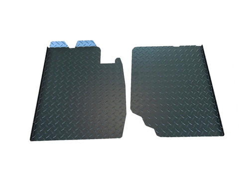 E30 Diamond Plate Floor Pans - Aluminum or Black
