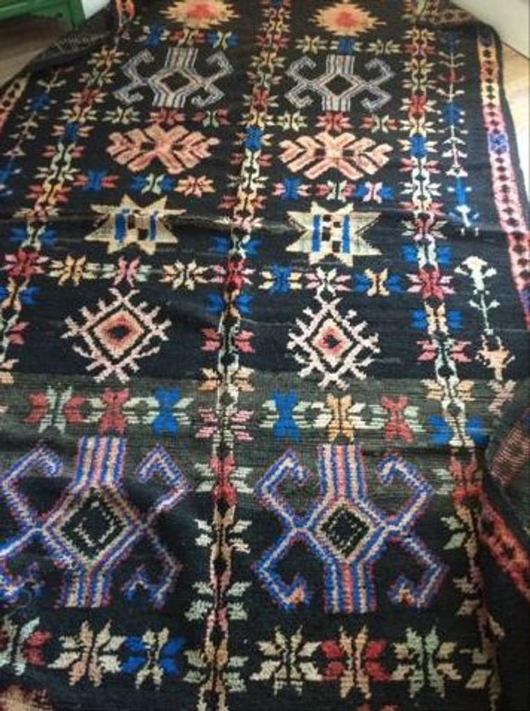 Goddess Harmonia RARE stunning Black Vintage Boujaad Rug