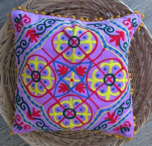 Suzani Lilac Cushion