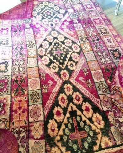 """""""Goddess Persephone"""" Beautiful RARE Vintage Boujaad Rug"""