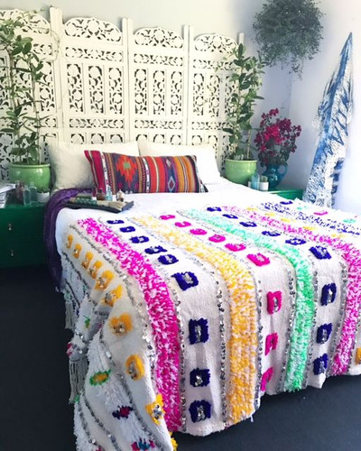 """Happiness"" Moroccan Wedding Blanket"