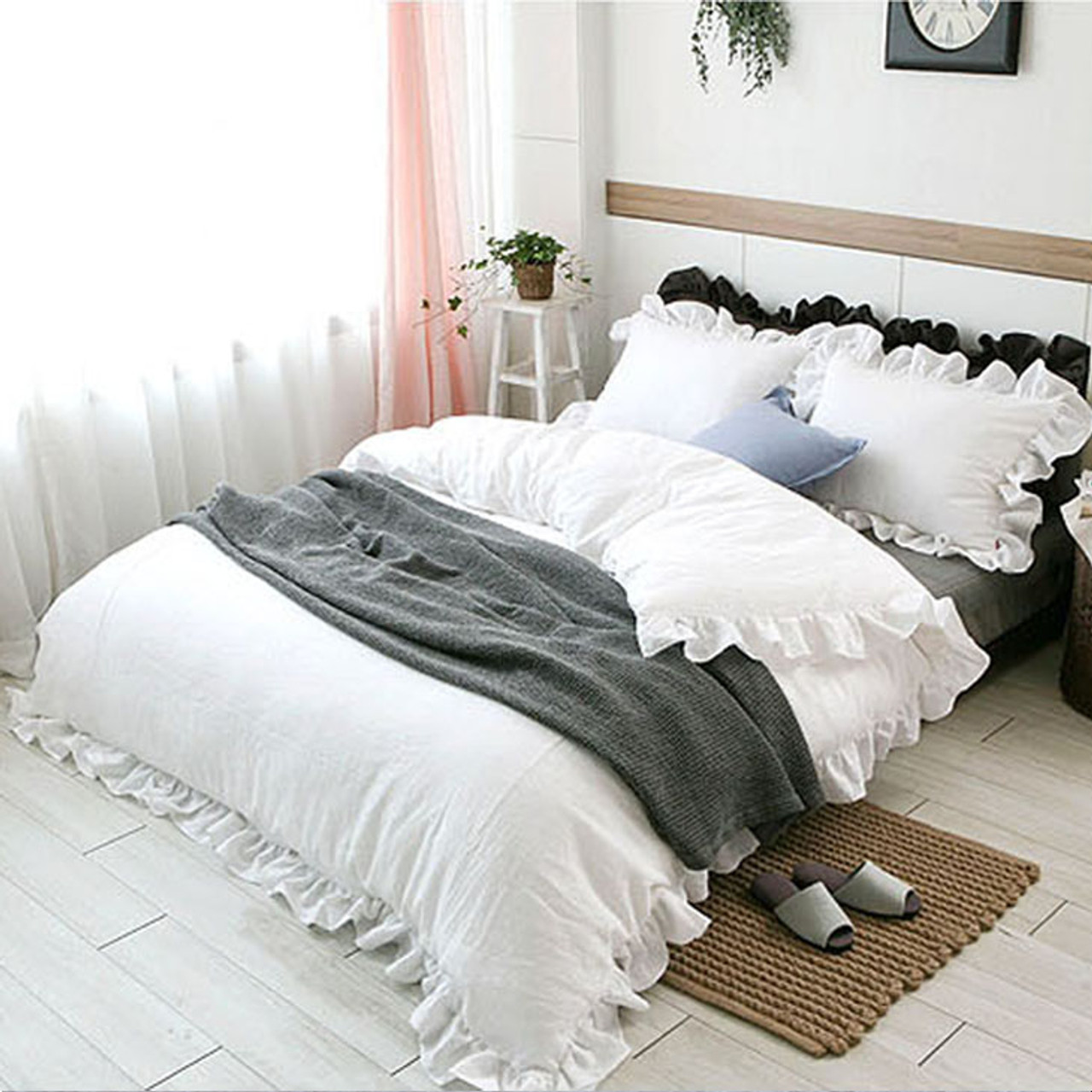 urban constrain outfitters cover duvet waterfall hei fit b ruffle white shop xlarge qlt