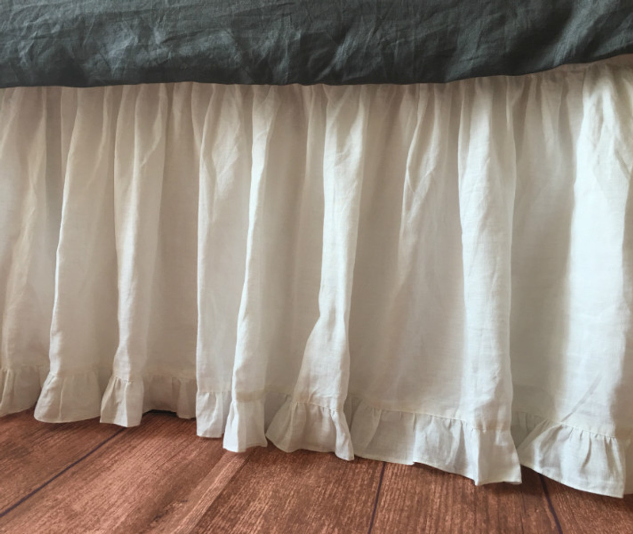 Twin Bed White Bed Skirt