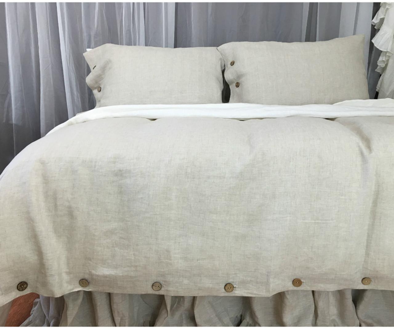 abbotson tailored duvet cover flax linen quilt qc silver