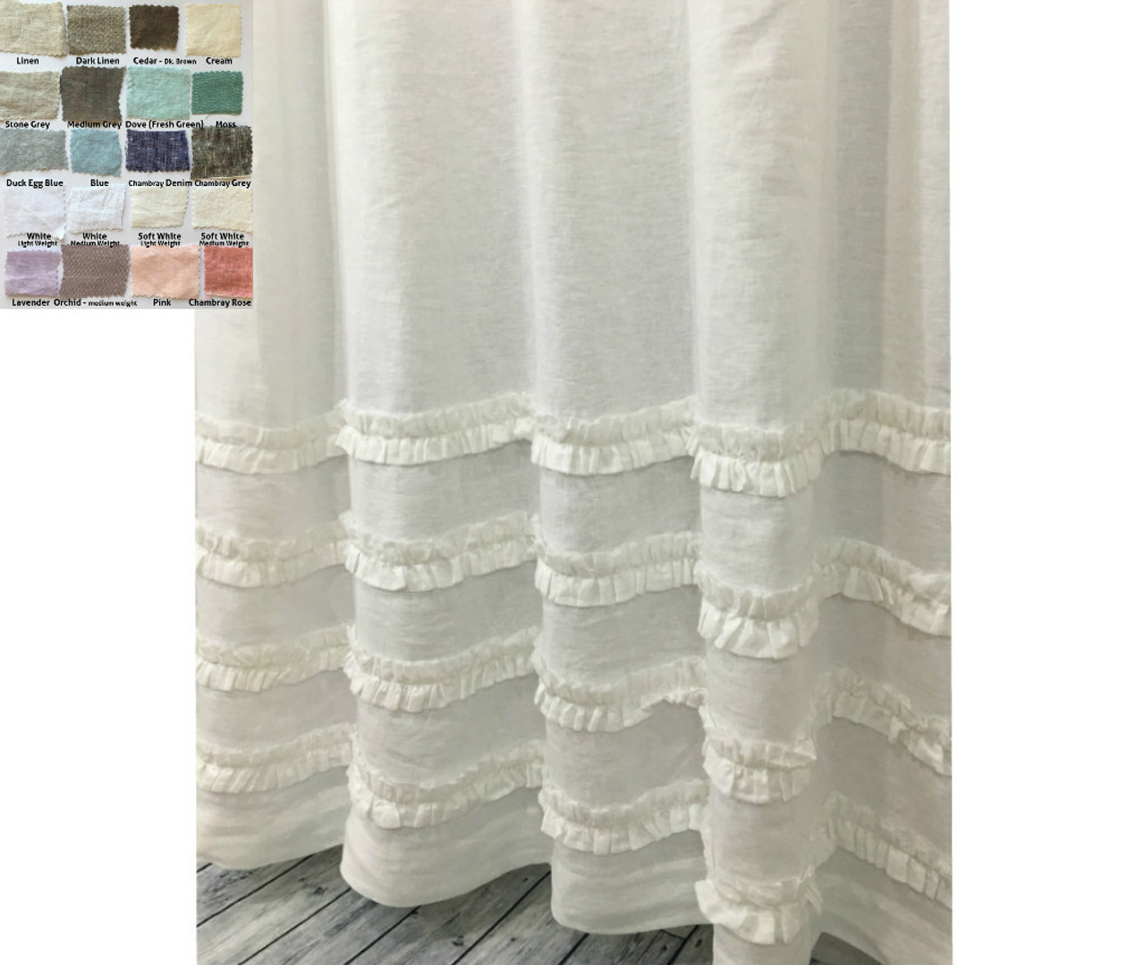 fringe curtains home at linen curtain shower white