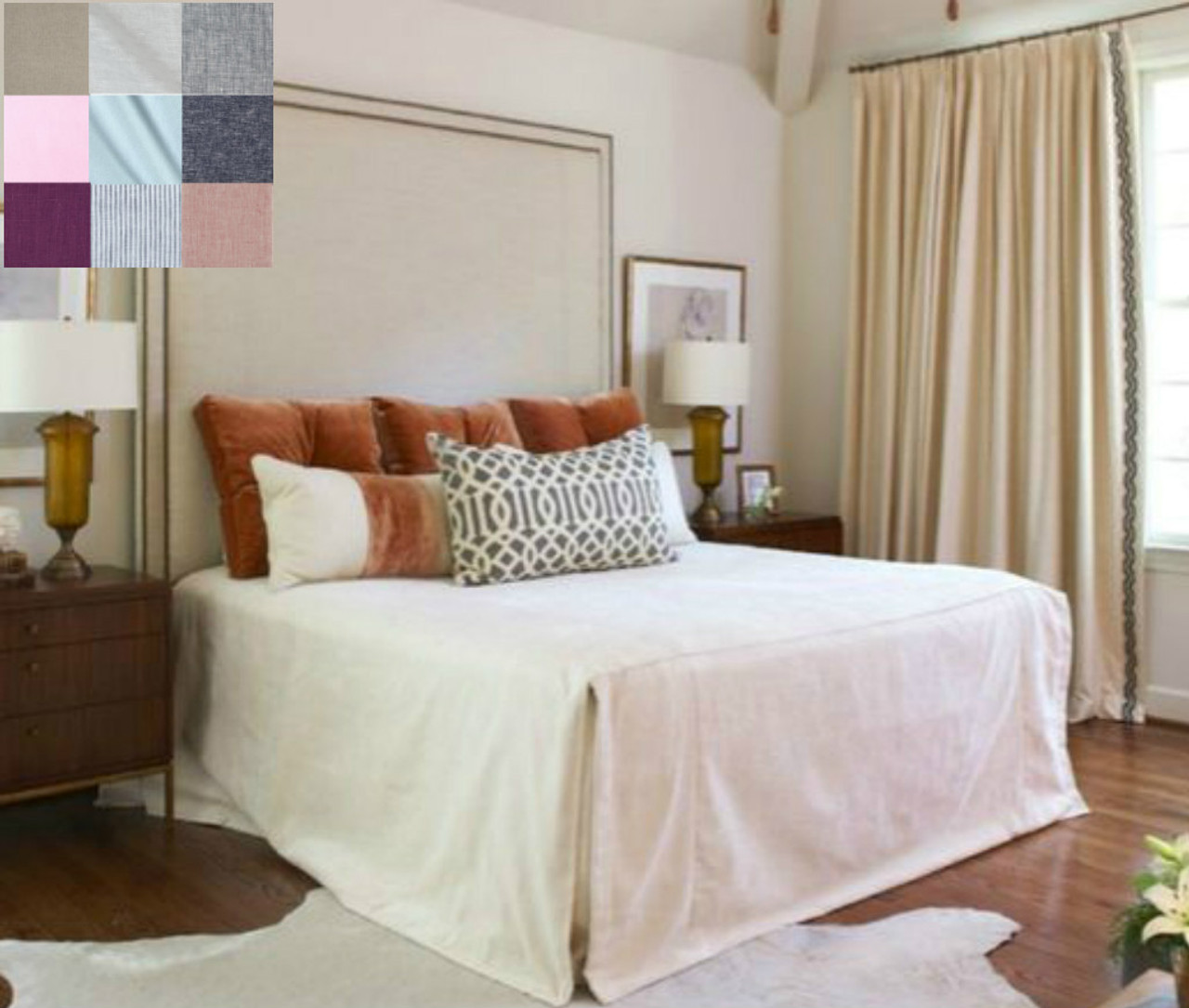 Linen Bed Cover - Pick your Color