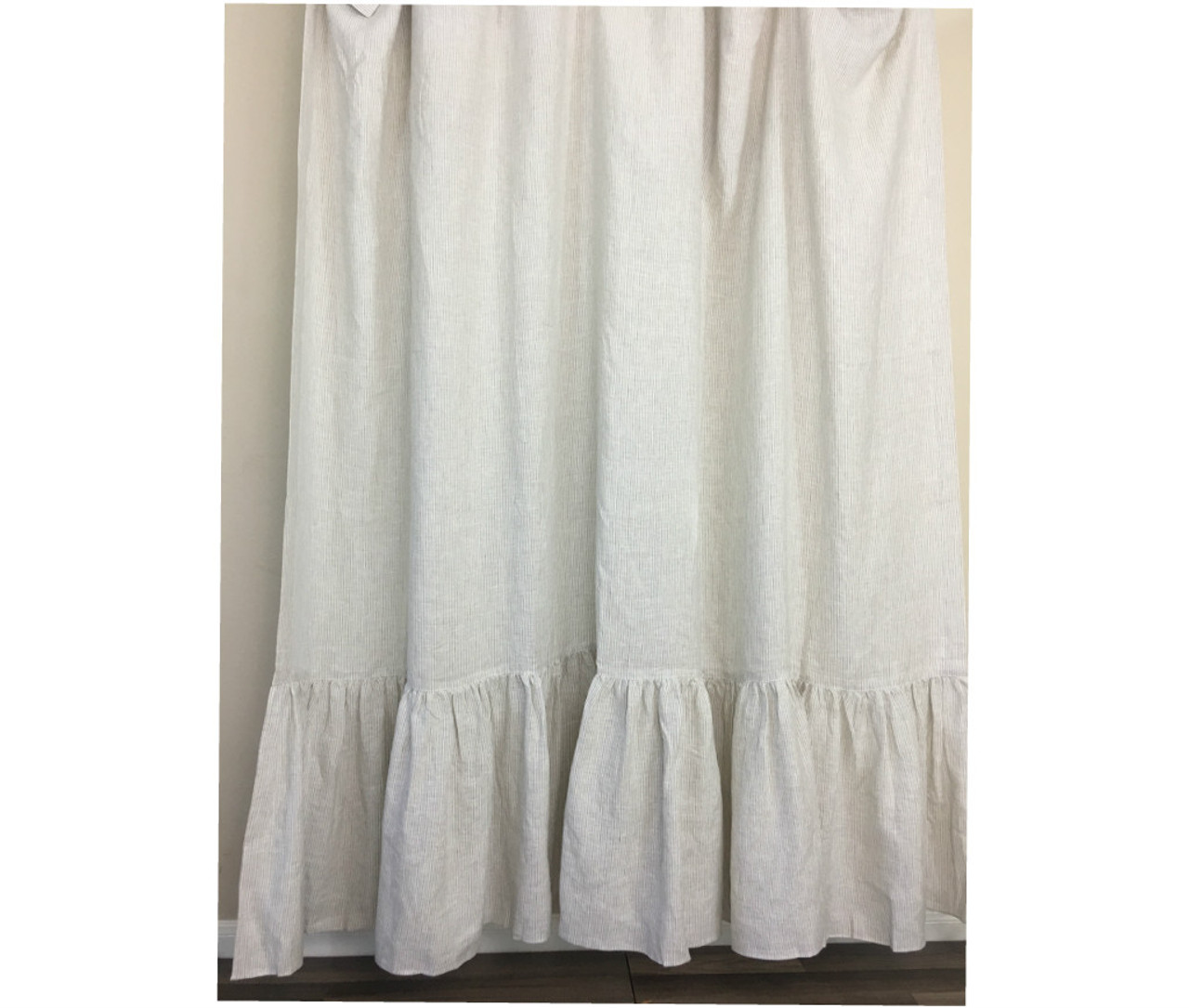handcrafted curtains shower curtain navy white linen by striped and
