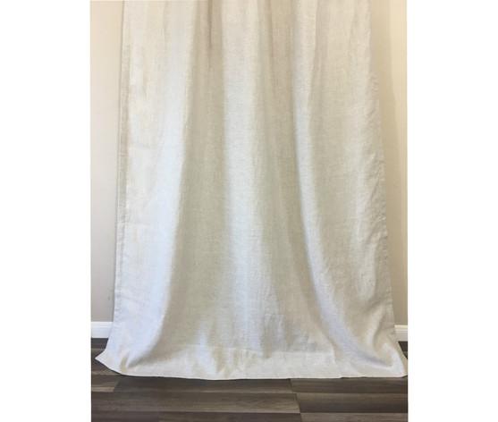 Linen Shower Curtains, White, Grey, Cream, Pink, Blue, Stripe ...