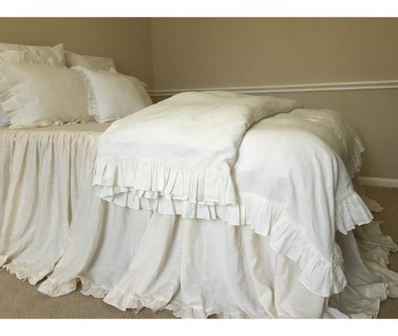 Off White Ruffle Duvet Cover · Off White Bedding, ...