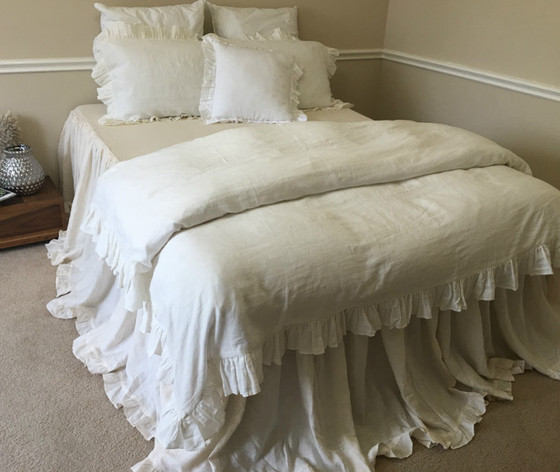 covers ruched chevron cover white the pioneer c ruffle kp duvet woman
