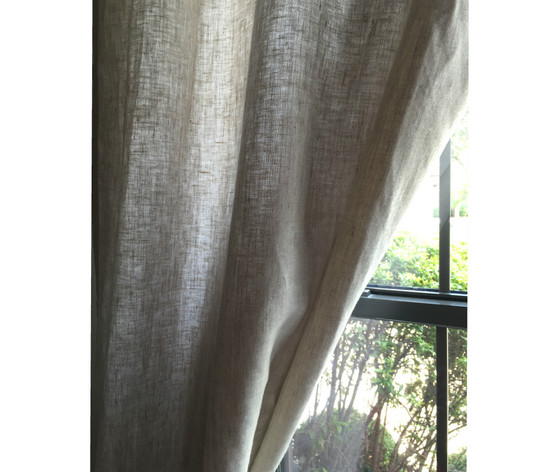 ... Natural Linen Flax Curtains Panels ...