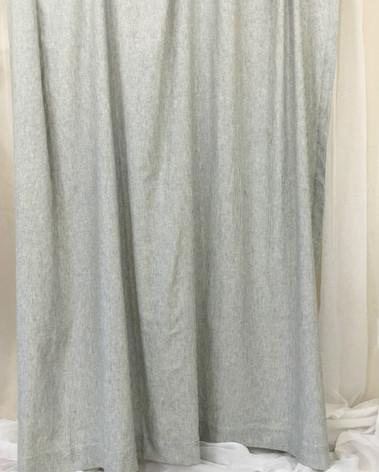 Subtle Black and White Ticking Striped Curtain   Handcrafted by ...
