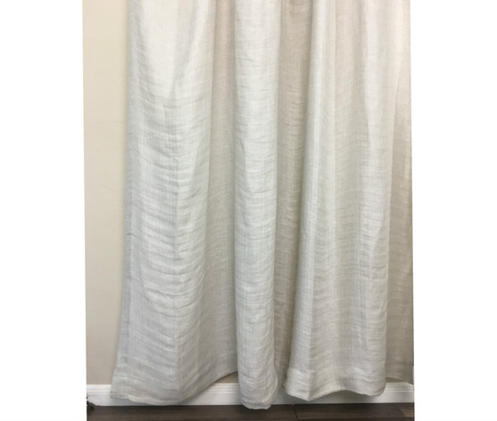 Chevron Linen Shower Curtain | Handcrafted by SuperiorCustomLinens.com