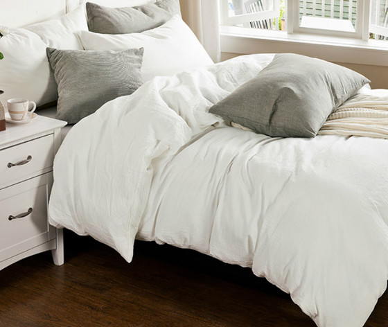 White Bedding Made From Medium Weight Linen; This White Duvet Cover Is  Handmade From Pure Eco Lux French Linen. ...