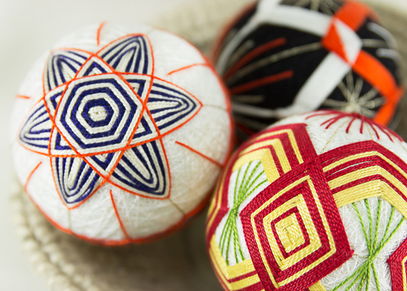 2 Temari Balls with English Instructions TM-3