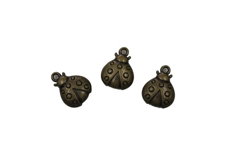 3 Ladybird Metal Zip-Pulls FK53-AG