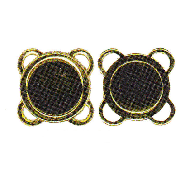 4 Sew-On Magnetic Closures Antique Gold AK-25-14AG
