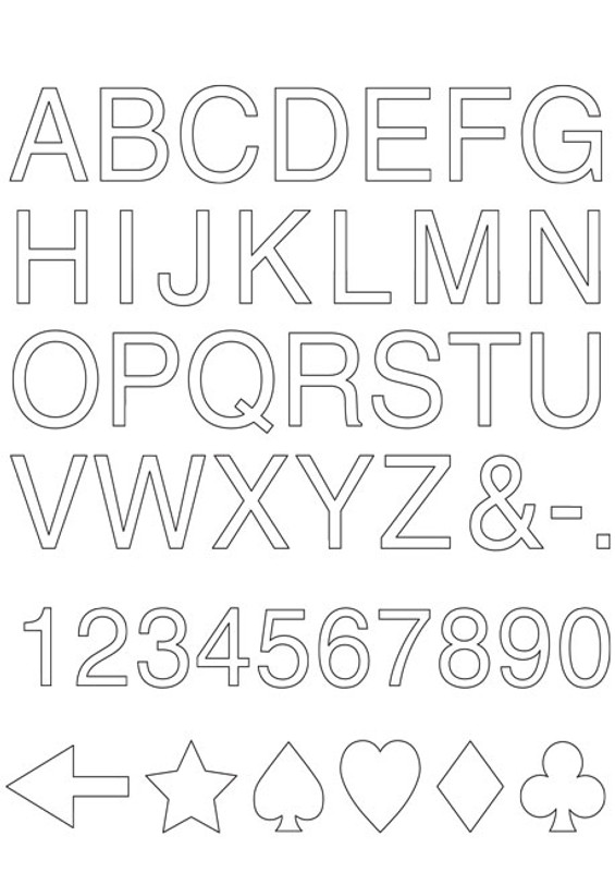 Free Alphabet Template Download FREE-SP001