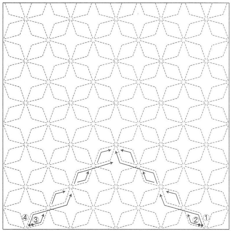 Sashiko Sampler Sashiko Sampler Asanoha (Hemp Leaf) SS2