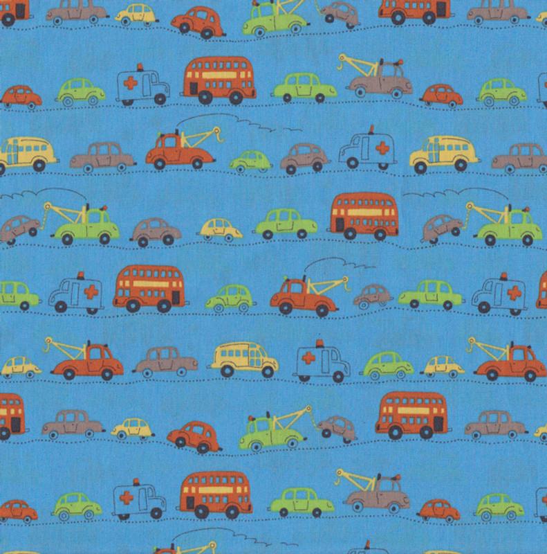 Automobiles on Blue