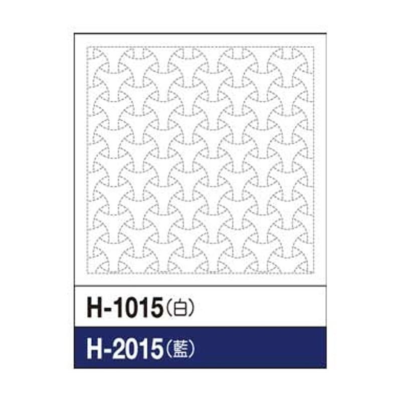 Sashiko Sampler Bishamon Circle SS-H-1015