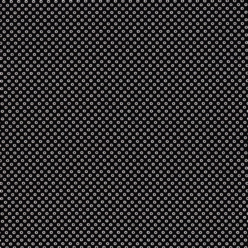 Printed Cotton Fabric Black Circles FCP-0271